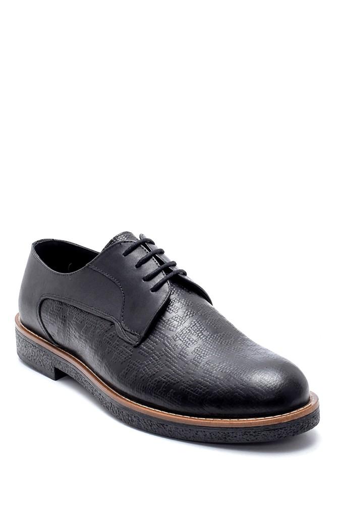 5638218734 Erkek Deri Basklı Klasik Ayakkabı