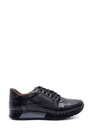 Siyah Erkek Deri Sneaker 5638218810