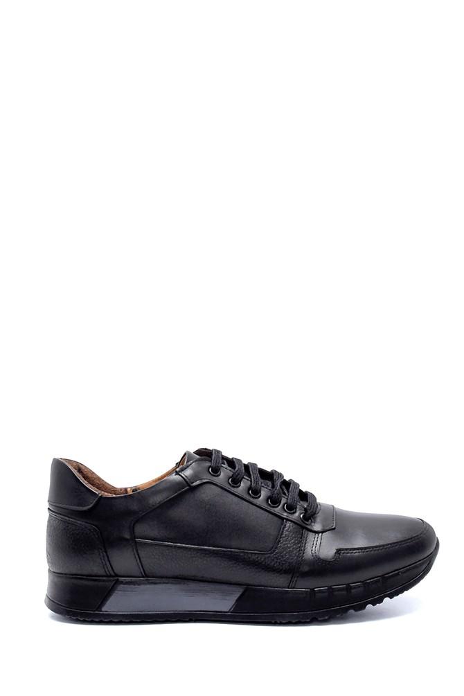Siyah Erkek Deri Sneaker 5638218829