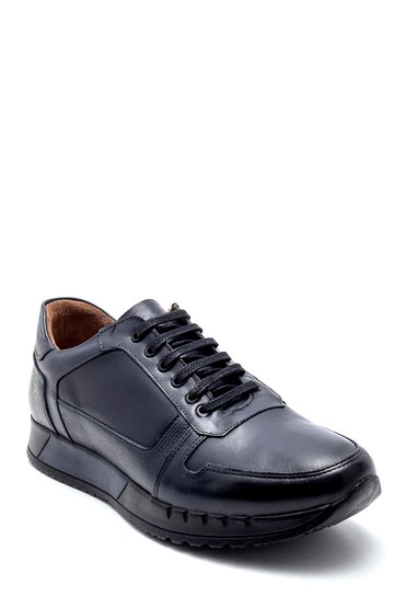 Lacivert Erkek Deri Sneaker 5638218811