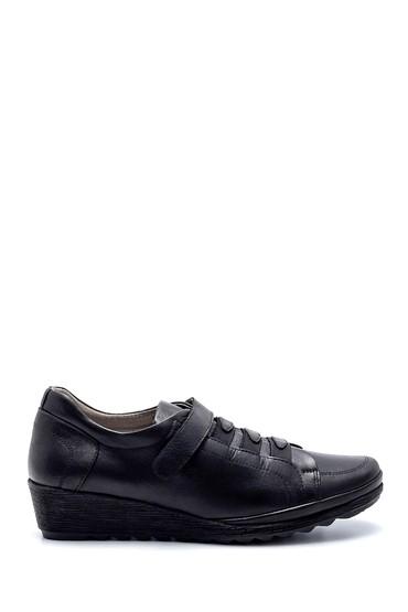 Siyah Kadın Deri Ayakkabı 5638217004
