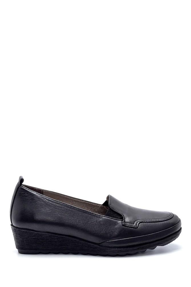 Siyah Kadın Deri Ayakkabı 5638217012