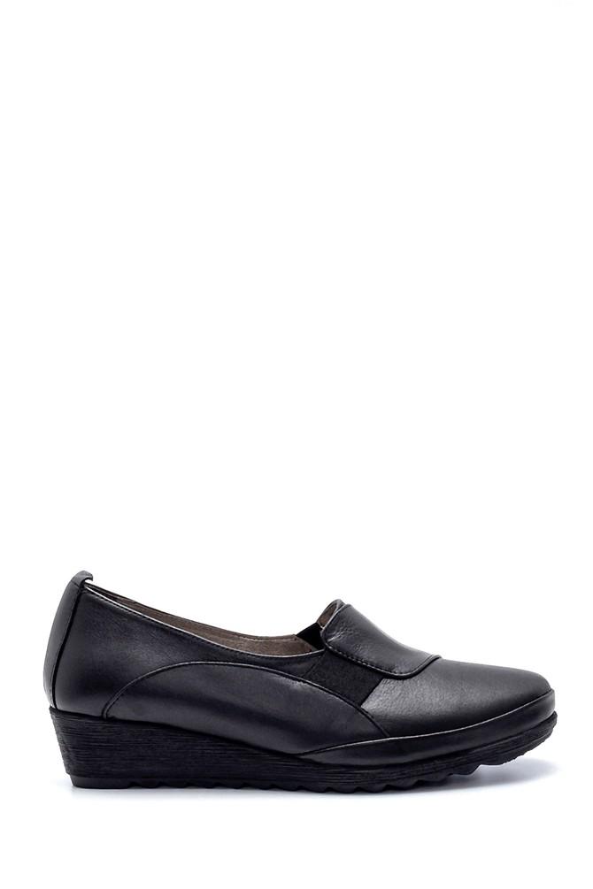 Siyah Kadın Deri Ayakkabı 5638217024