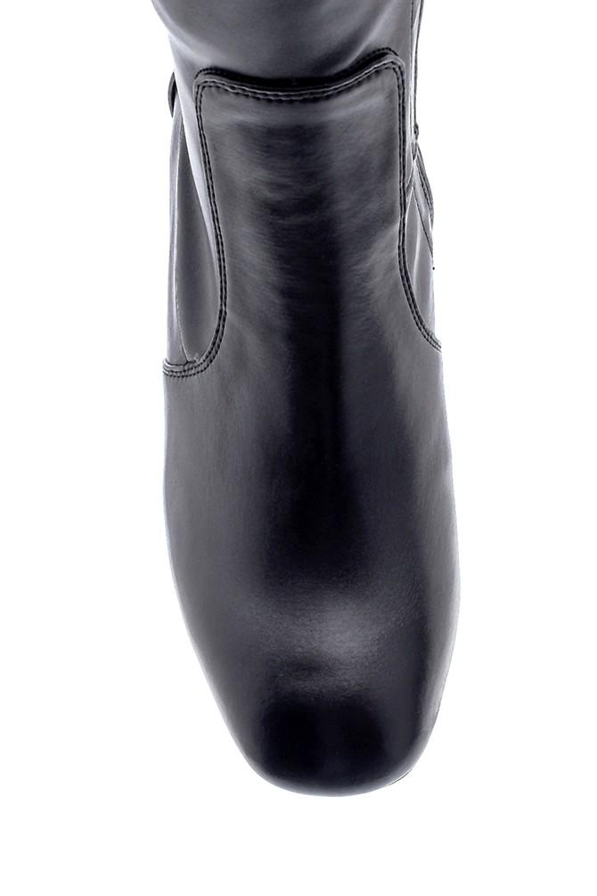 5638226332 Kadın Deri Topuklu Çizme