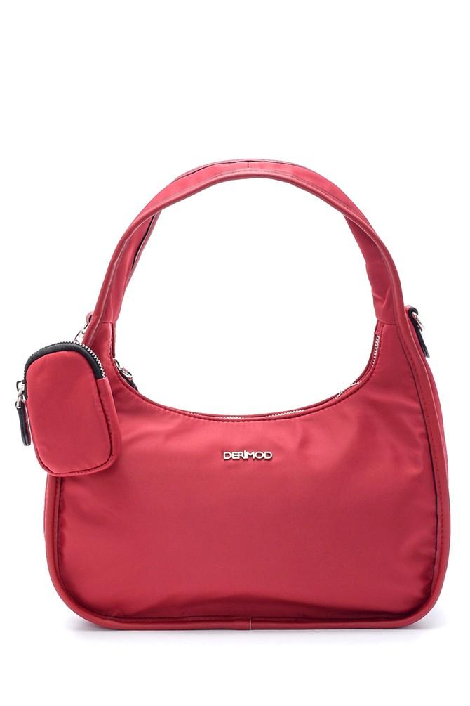 Kırmızı Kadın Bozuk Para Cüzdanlı Baget Çanta 5638195353