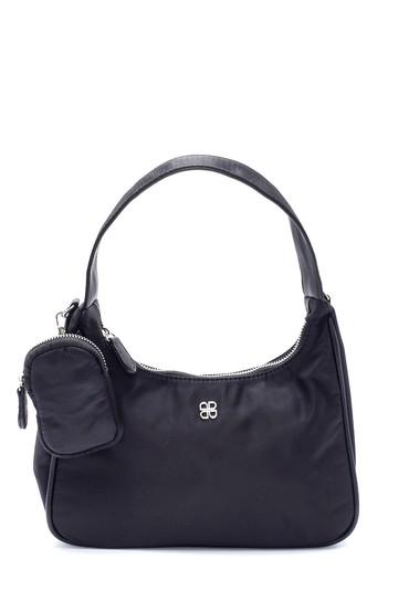 Siyah Kadın Bozuk Para Cüzdanlı Baget Çanta 5638195356