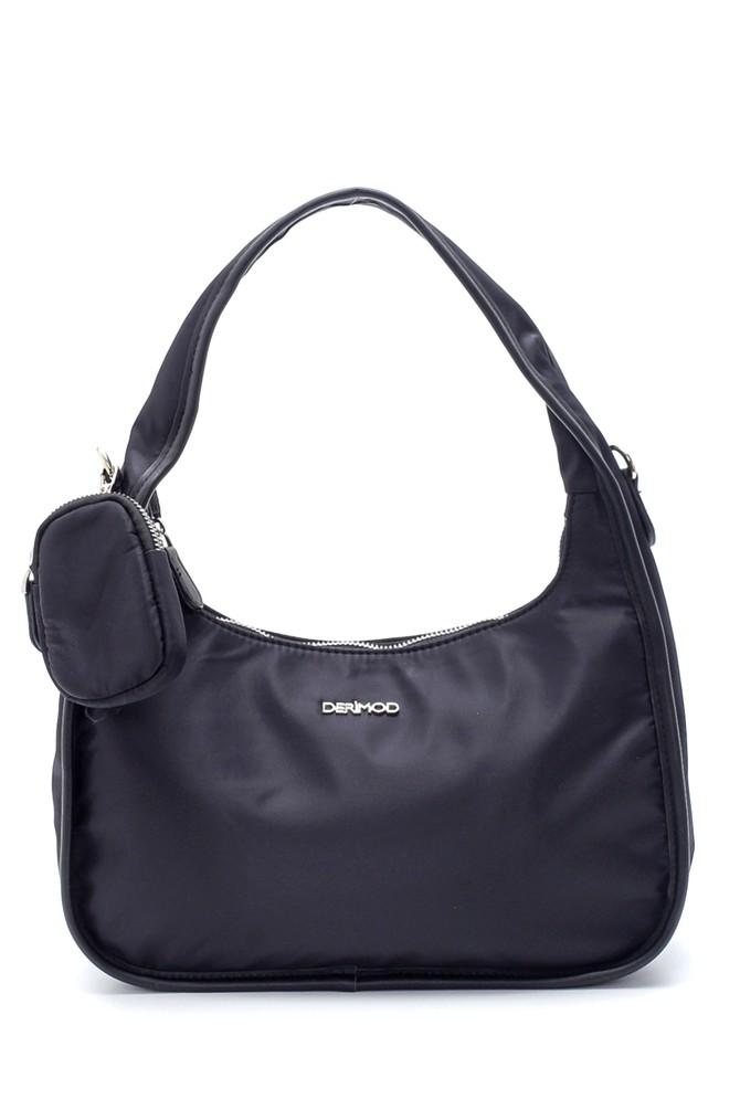 Siyah Kadın Bozuk Para Cüzdanlı Baget Çanta 5638195352