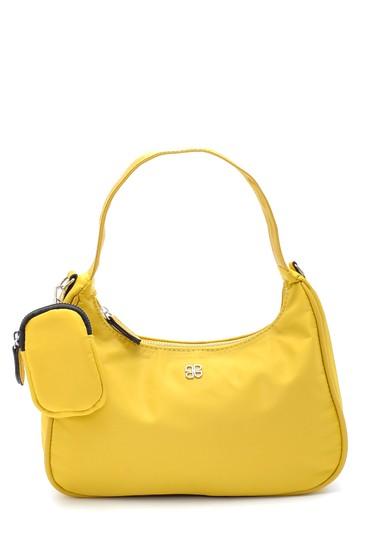 Sarı Kadın Bozuk Para Cüzdanlı Baget Çanta 5638197414