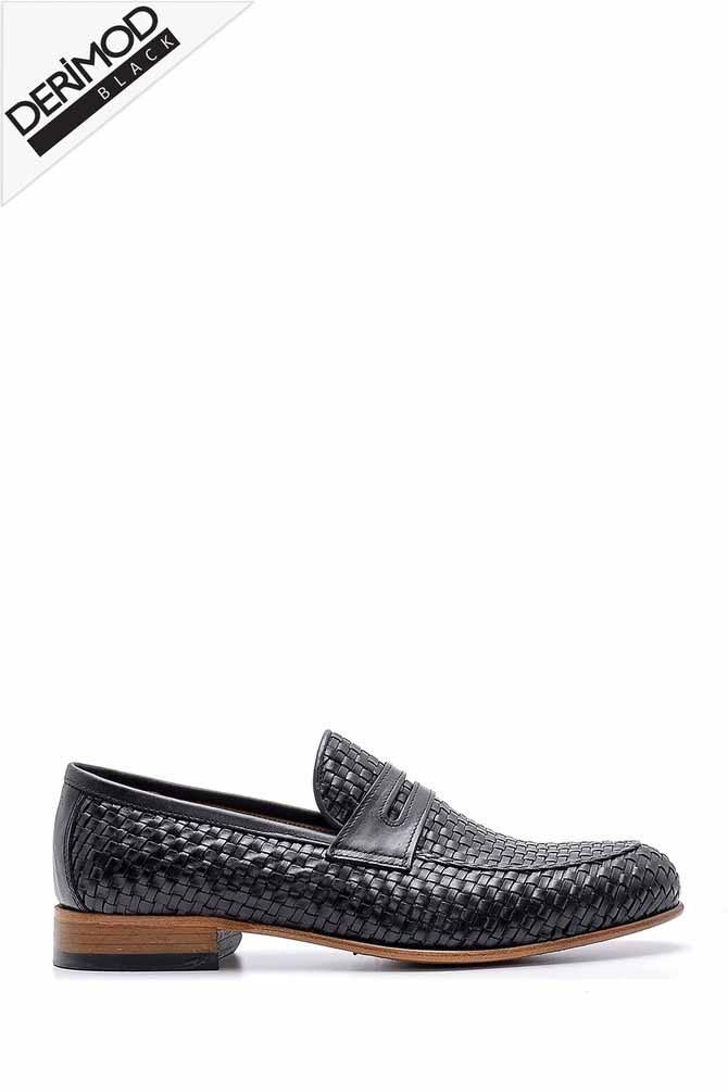 Siyah Erkek Deri Klasik Loafer 5638162752