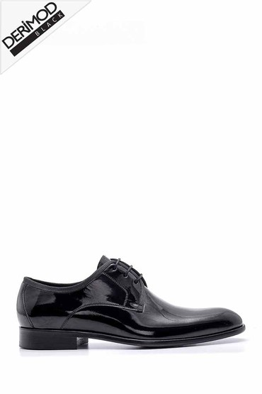 Siyah Erkek Rugan Klasik Ayakkabı 5638176219