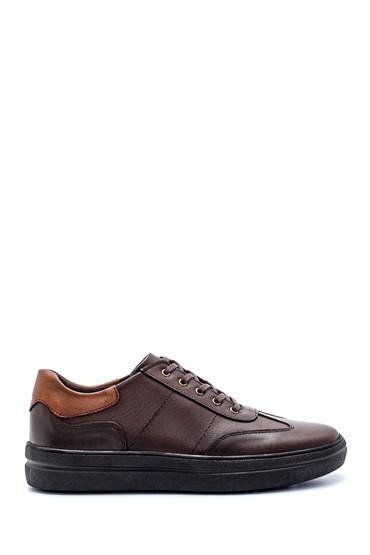 Kahverengi Erkek Deri Sneaker 5638197269