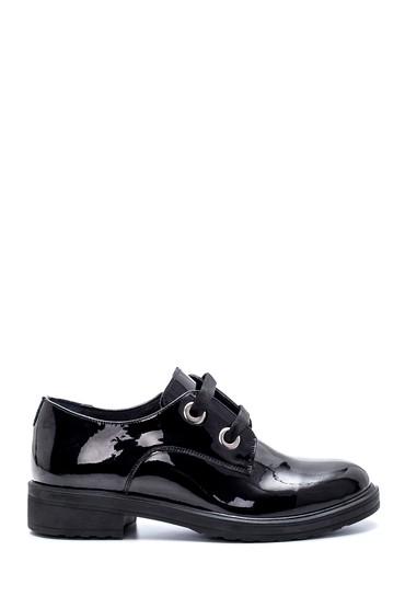 Siyah Kadın Deri Rugan Ayakkabı 5638202466
