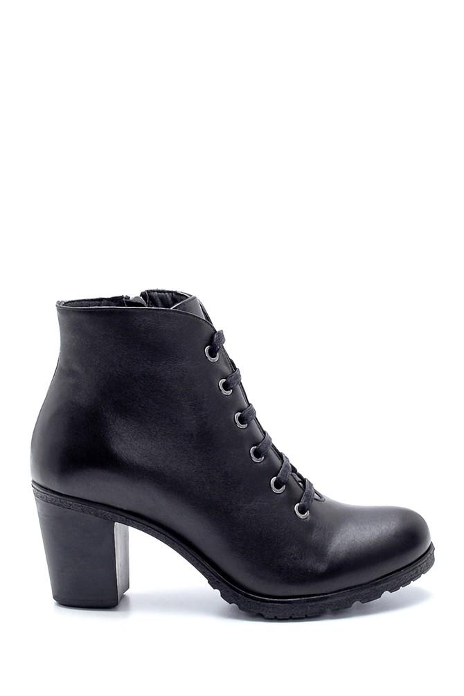 Siyah Kadın Deri Topuklu Bot 5638202731