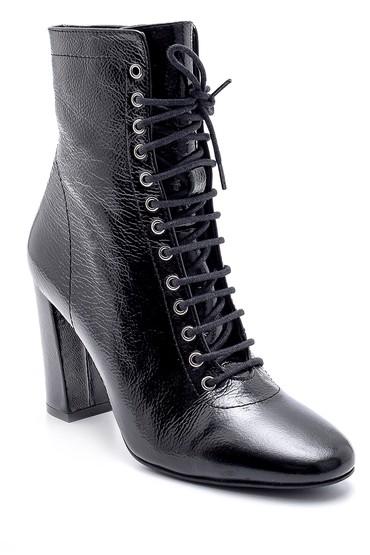 Siyah Kadın Deri Rugan Topuklu Bot 5638202821