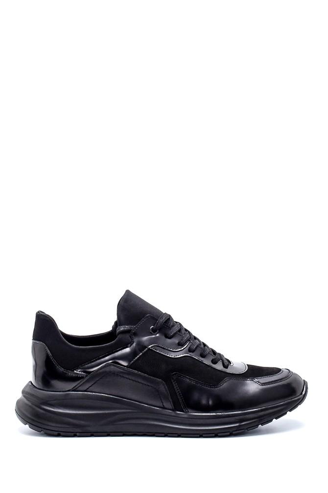 Siyah Erkek Deri Sneaker 5638204015