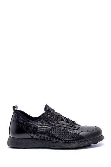 Siyah Erkek Deri Sneaker 5638208234