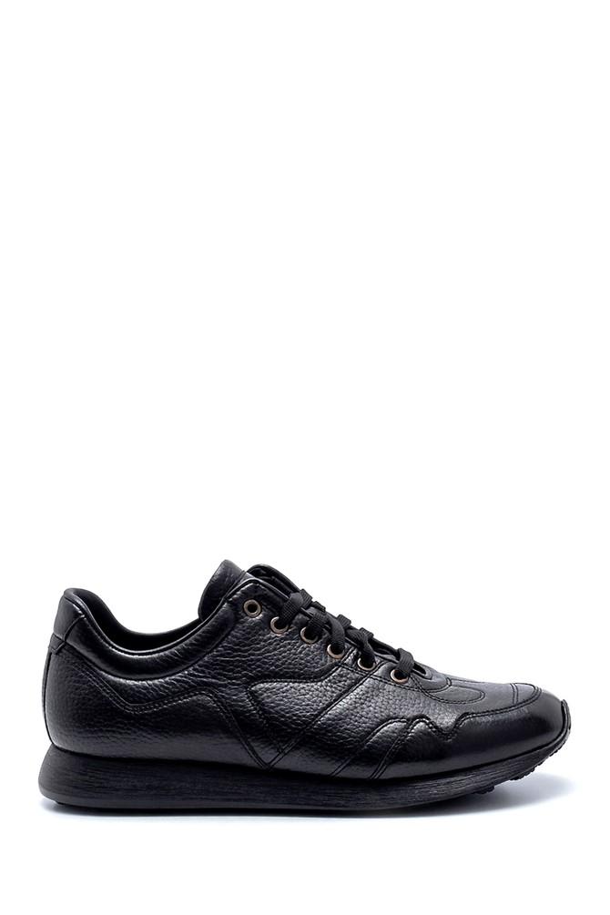 Siyah Erkek Deri Sneaker 5638208265