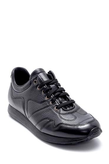 Siyah Erkek Deri Sneaker 5638208255