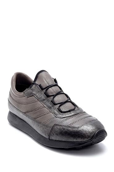 Gri Erkek Deri Sneaker 5638208280