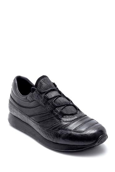 Siyah Erkek Deri Sneaker 5638208286