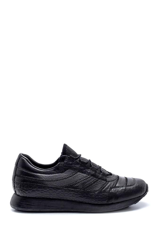 Siyah Erkek Deri Sneaker 5638208296