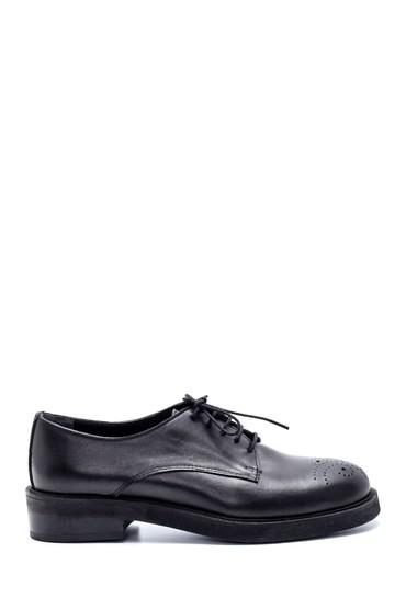Siyah Kadın Deri Ayakkabı 5638209579