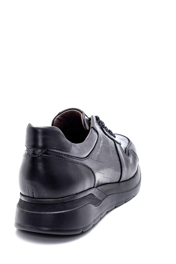 5638215035 Erkek Deri Kroko Desenli Sneaker