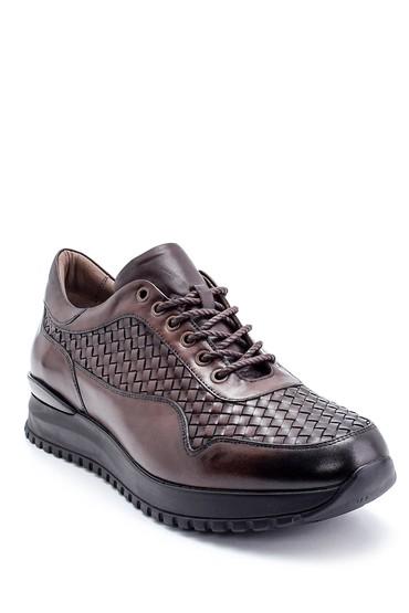 Kahverengi Erkek Deri Sneaker 5638215108