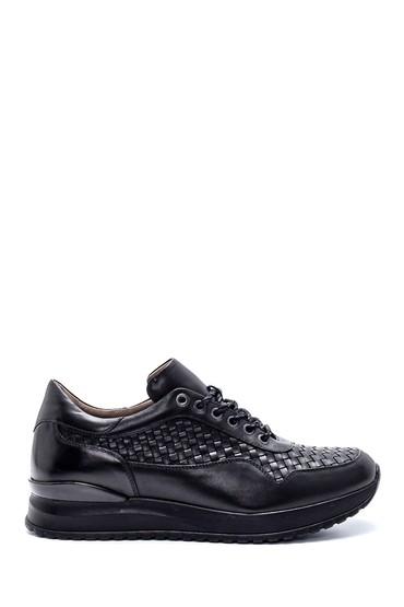 Siyah Erkek Deri Sneaker 5638215109