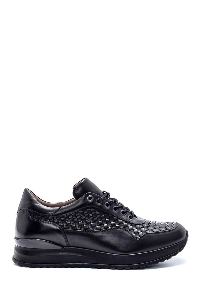 Siyah Erkek Deri Sneaker 5638215113
