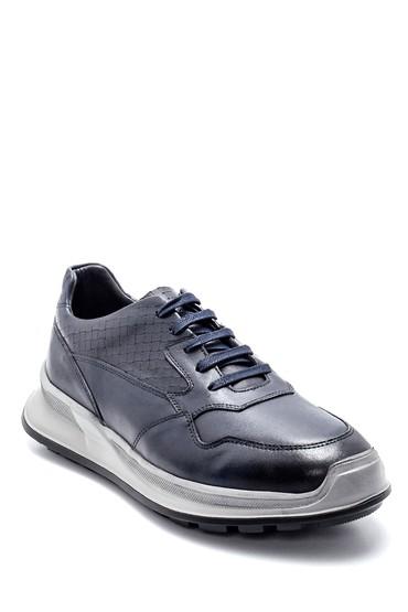 Lacivert Erkek Deri Sneaker 5638218590