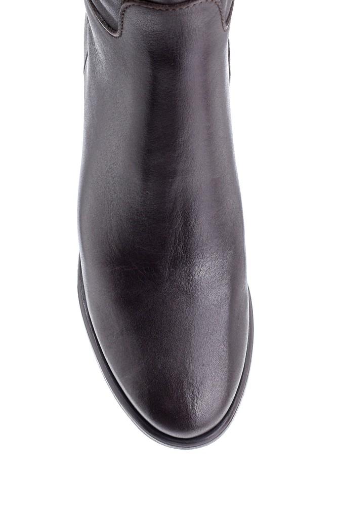 5638212890 Kadın Deri Topuklu Çizme