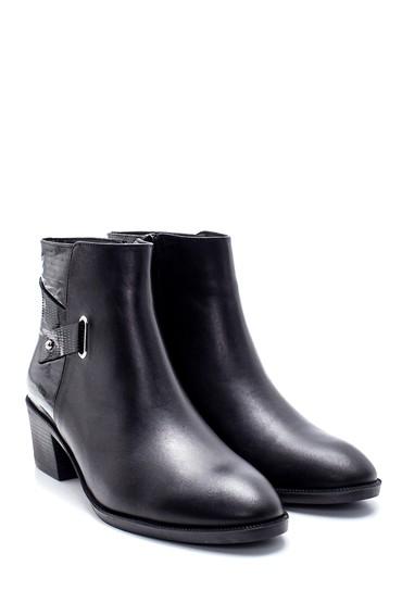 Siyah Kadın Deri Topuklu Bot 5638213465