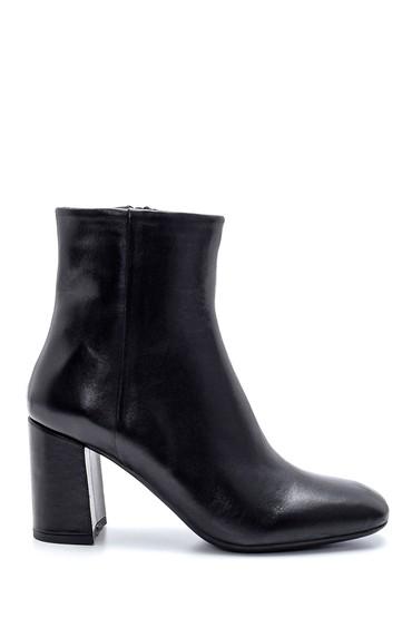 Siyah Kadın Deri Topuklu Bot 5638218097