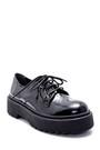 5638226345 Kadın Deri Rugan Kalın Tabanlı Ayakkabı