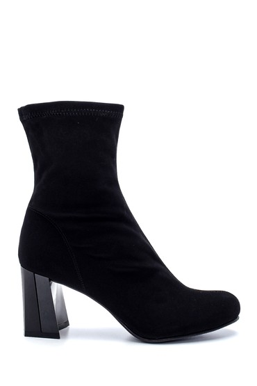 Siyah Kadın Süet Topuklu Bot 5638191986