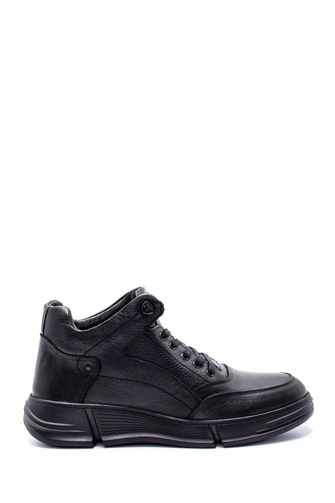 Siyah Erkek Deri Sneaker 5638197321