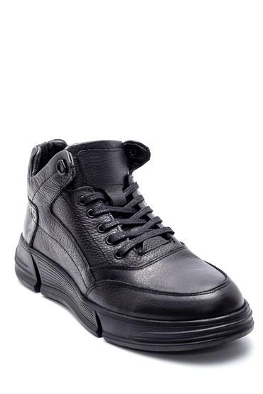 Siyah Erkek Deri Sneaker 5638197301
