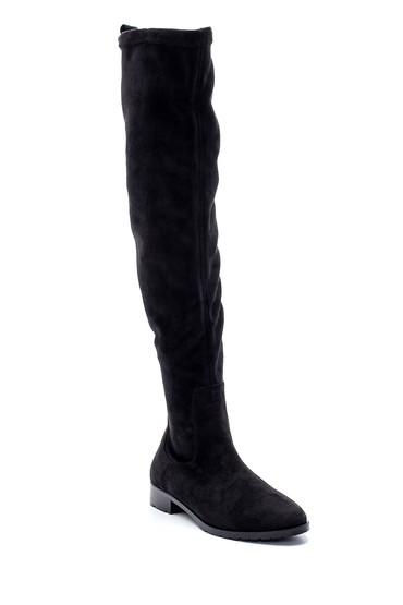 Siyah Kadın Süet Çizme 5638209735