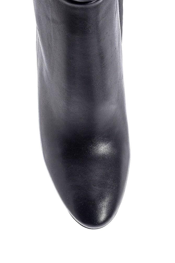 5638213045 Kadın Deri Topuklu Çizme
