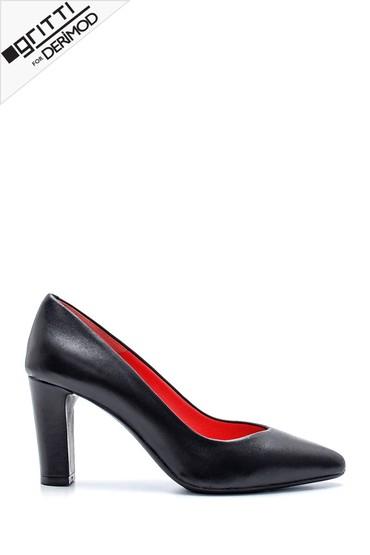 Siyah Kadın Gritti for Derimod Topuklu Ayakkabı 5638218037