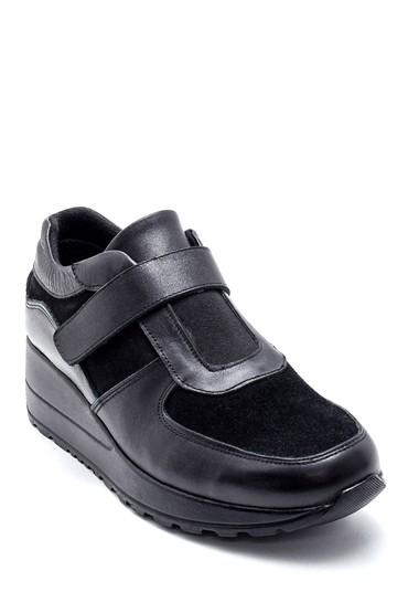 Siyah Kadın Süet Deri Ayakkabı 5638193472