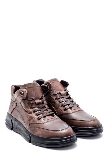 Kahverengi Erkek Deri Sneaker 5638197303