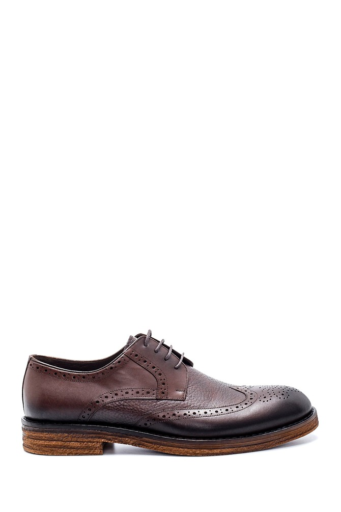 Kahverengi Erkek Deri Klasik Ayakkabı 5638199834