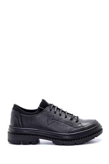 Siyah Erkek Deri Sneaker 5638216490