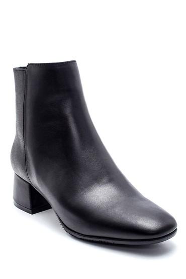 Siyah Kadın Deri Topuklu Bot 5638216786