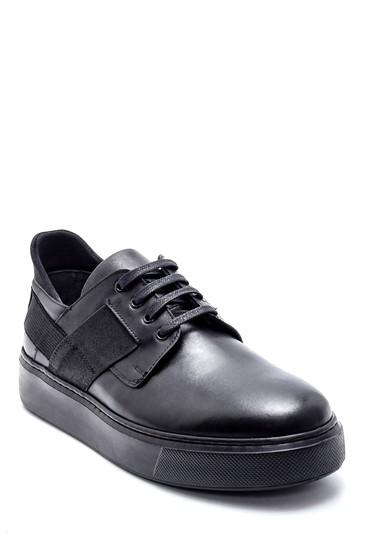 Siyah Erkek Deri Sneaker 5638218587