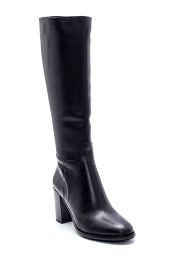 Siyah Kadın Deri Topuklu Çizme 5638212888