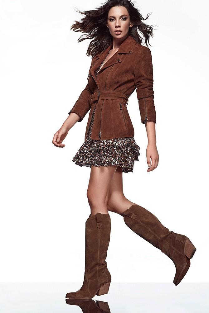 5638213337 Kadın Süet Topuklu Çizme