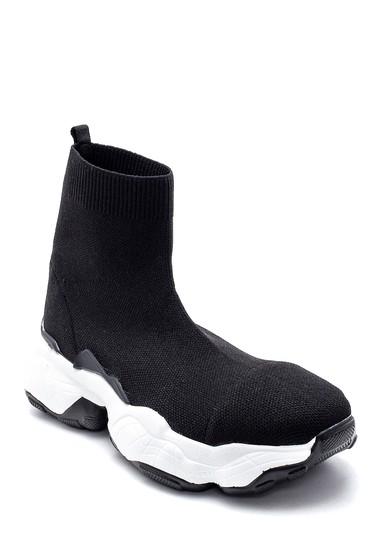 Siyah Kadın Kalın Tabanlı Çorap Bot 5638183410